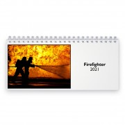 Firefighter 2021 Desk Calendar